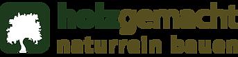 Logo holzgemacht - naturrein bauen