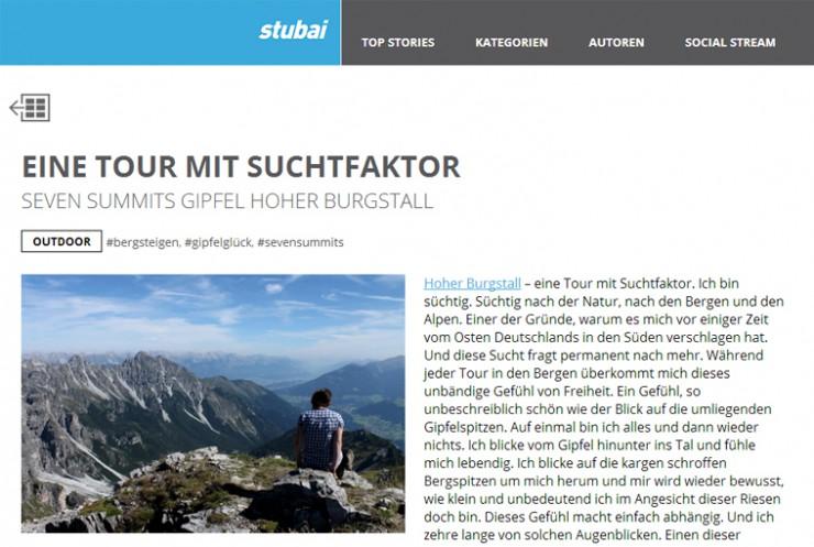 """""""Der Hohe Burgstall – eine Tour mit Suchtfaktor"""""""