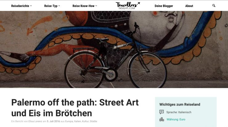 """""""Palermo off the path: Street Art und Eis im Brötchen."""""""