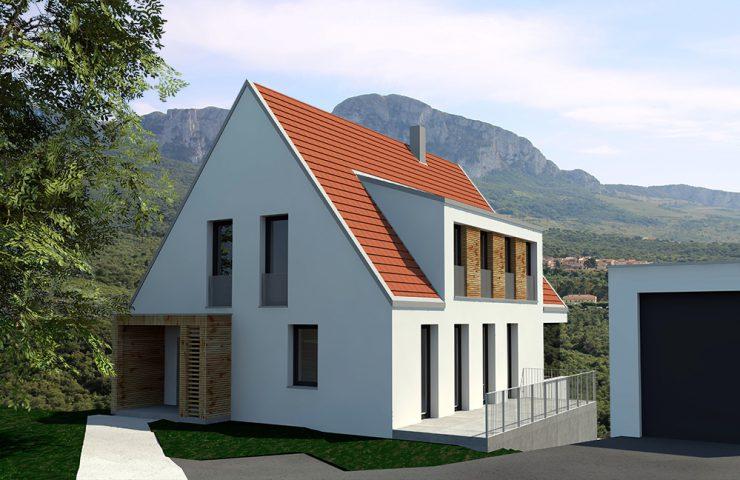 Einfamilienhaus K (Hang- und Stadtrandlage)